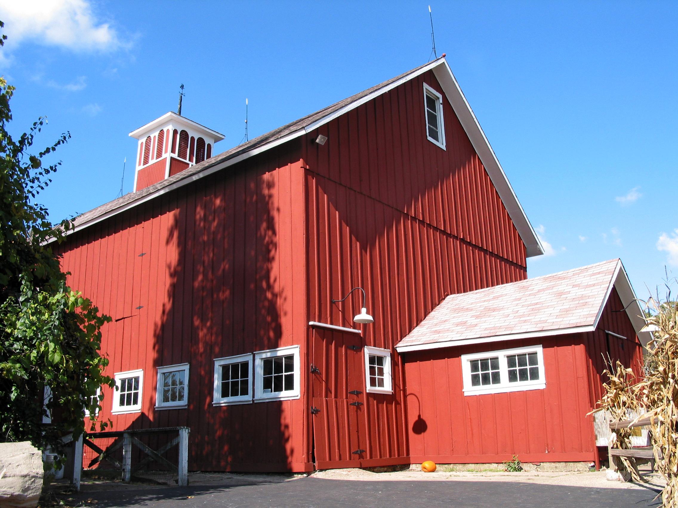 Architecture Photo Red Farmhouse