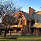 Frank Lloyd Wright house, design, oak park, chicago, landmark building, famous architecture, classic architecture, architecture photo, building, free stock photos, free images, royalty-free image