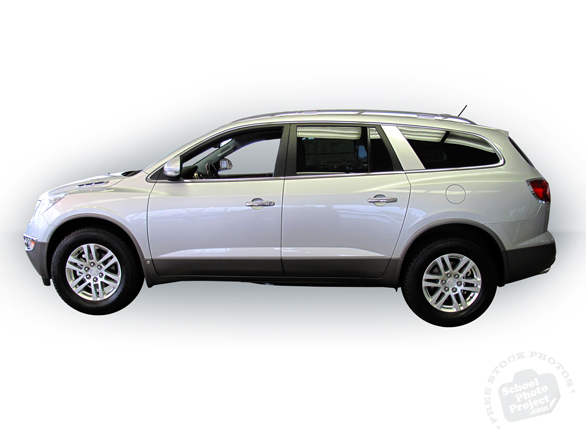Buick, Buick photo, Buick Enclave, silver Enclave, Buick SUV, luxury car, car, auto, automobile, free foto, free photo, picture, image, free images download, stock photography, stock images, royalty-free image