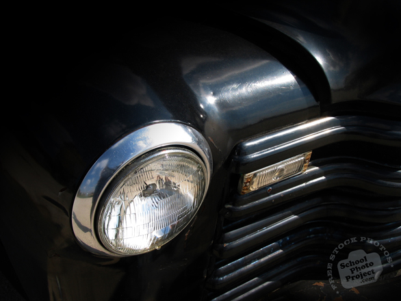 antique car, headlight, front light, car, auto, automobile, transportation photos, free foto, free photo, picture, image, free images download, stock photography, stock images, royalty-free image