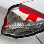 rear light, damaged rearlight, broken rear light, car, automobile, photo, free photo, stock photos, royalty-free image