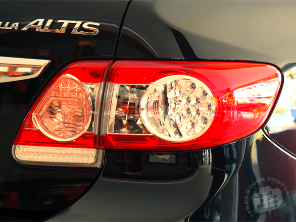 tail light, rearlight, Toyota Altis, Toyota Corolla, car, auto, free foto, free photo, stock photos, picture, image, free images download, stock photography, stock images, royalty-free image
