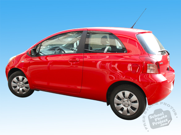Toyota Yaris, red car, auto, automobile, transportation, free foto, free photo, stock photos, picture, image, free images download, stock photography, stock images, royalty-free image