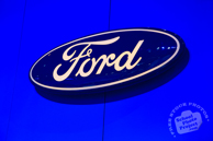 Ford logo, Ford stand, Chicago Auto Show, stock photos, free images, royalty free pictures