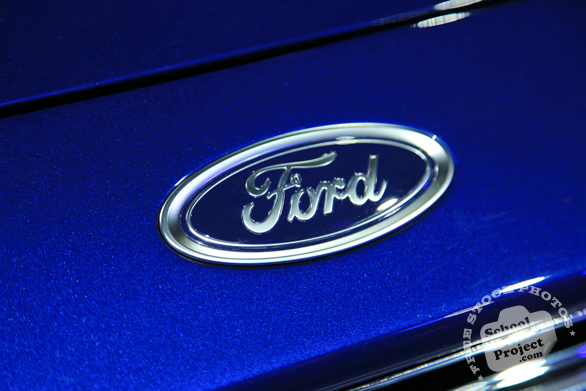 Ford logo, Ford brand, Chicago Auto Show, stock photos, free images, royalty free pictures