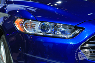Ford Fusion, Ford car, headlight, Chicago Auto Show, stock photos, free images, royalty free pictures