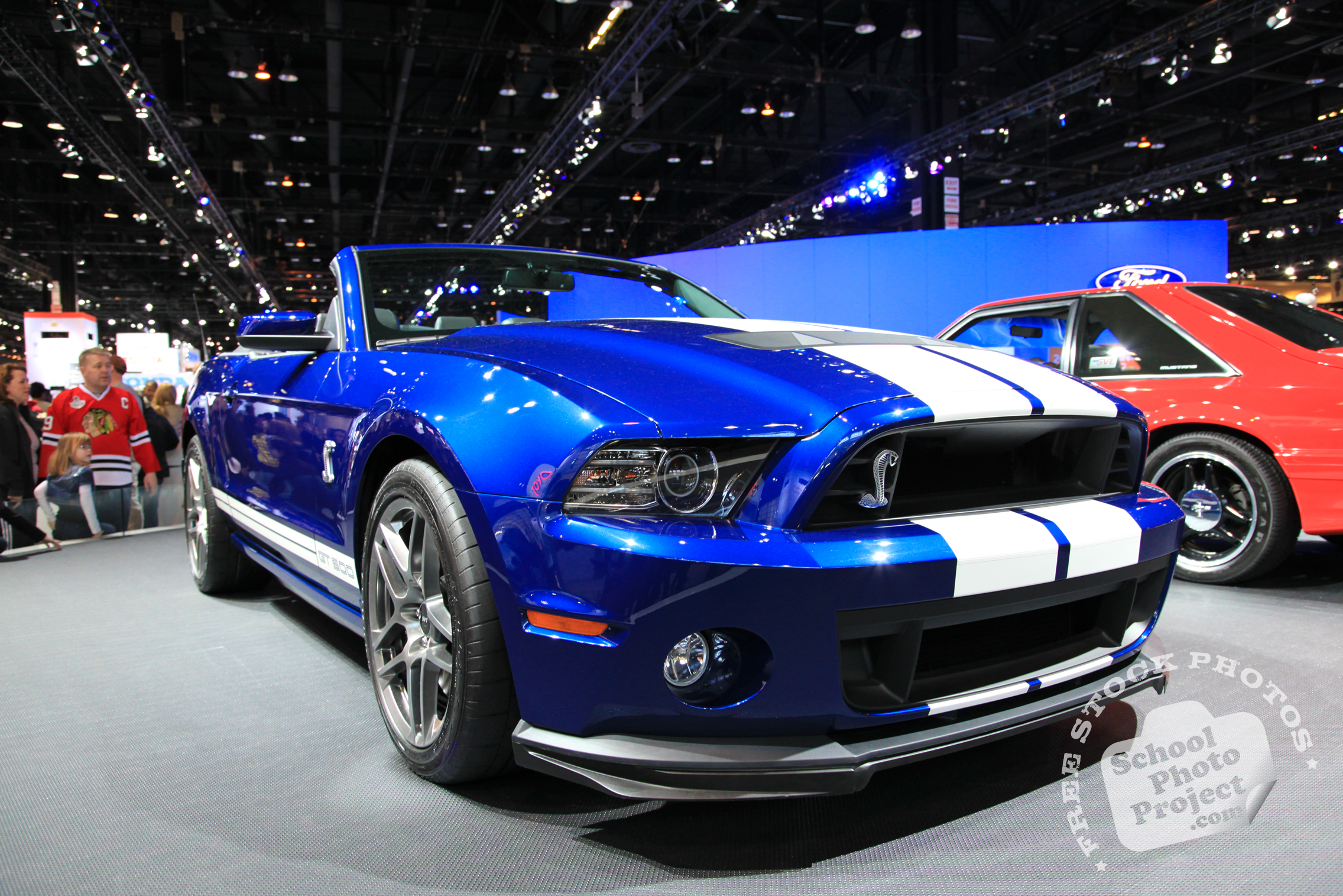 Ford Chicago Auto Show Photo Album Ford Shelby Mustang Gt500 Royalty Free Stock Photography