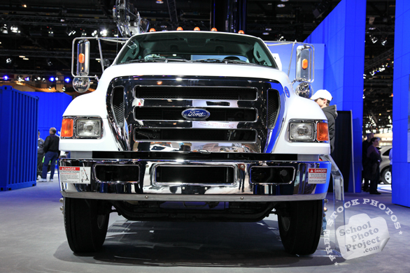 Ford truck, F-650, F-750, Ford super duty truck, Chicago Auto Show, stock photos, free images, royalty free pictures
