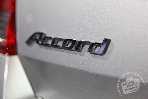 Honda Accord logo, Chicago Auto Show, stock photos, free images, royalty free pictures