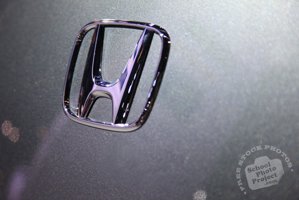 Honda glossy logo, Chicago Auto Show, stock photos, free images, royalty free pictures