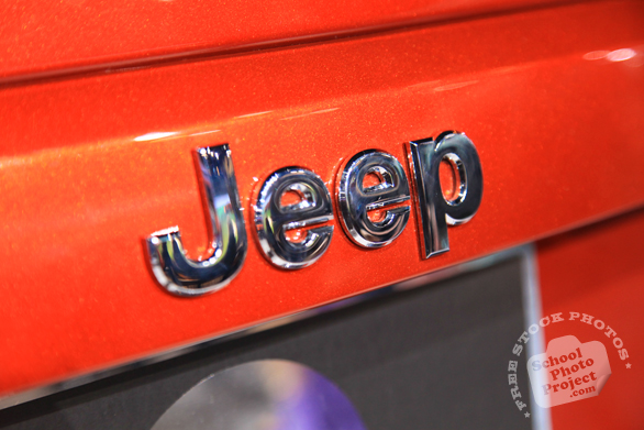 Jeep logo, Chicago Auto Show, stock photos, free images, royalty free pictures