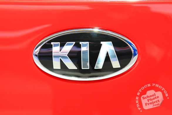KIA logo, Chicago Auto Show, stock photos, free images, royalty free pictures