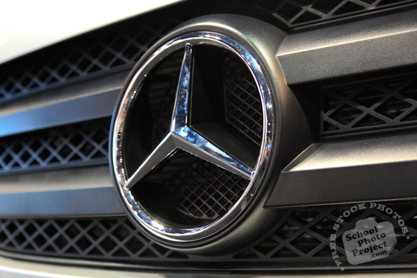 Mercedes Benz logo, Chicago Auto Show, stock photos, free images, royalty free pictures