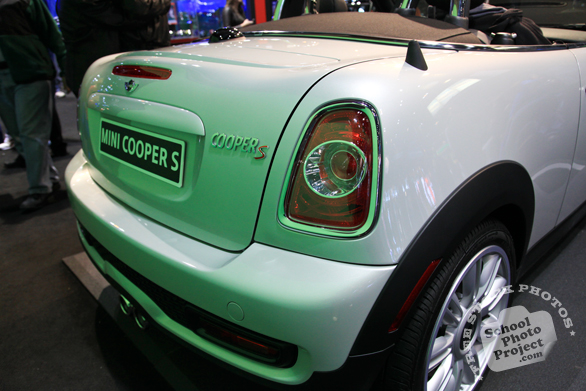 Mini Cooper S, rear side, Chicago Auto Show, stock photos, free images, royalty free pictures