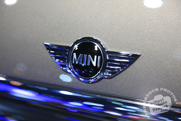 Mini Cooper logo, Chicago Auto Show, stock photos, free images, royalty free pictures