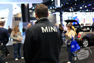 Mini Cooper, exhibit agent, Chicago Auto Show, stock photos, free images, royalty free pictures