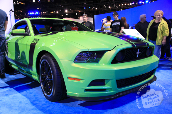 Mustang Boss 302, sports car, Chicago Auto Show, stock photos, free images, royalty free pictures