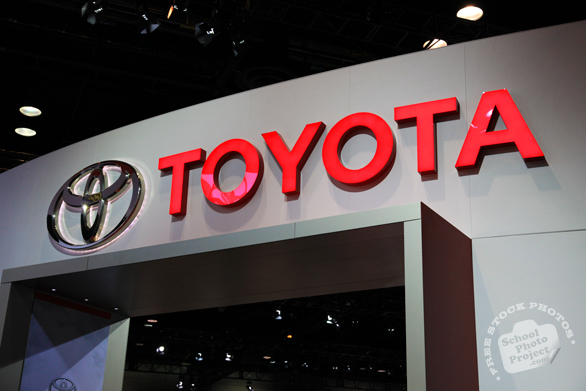 Toyota exhibition stand, Chicago Auto Show, stock photos, free images, royalty free pictures