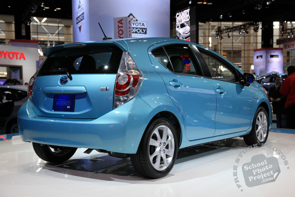 Toyota Hybrid Prius C, electric car, Chicago Auto Show, stock photos, free images, royalty free pictures