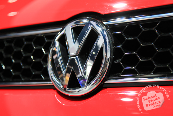 Volkswagen metallic logo, VW, Chicago Auto Show, stock photos, free images, royalty free pictures