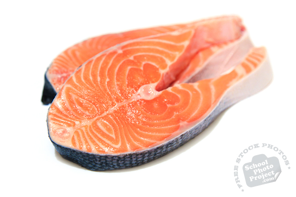 salmon fillet, cut fish, prepared seafood, fresh water fish, free stock photo, picture, free images download, stock photography, royalty-free image