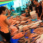 fishmonger, fish stall, seafood market, free stock photo, picture, free images download, stock photography, royalty-free image