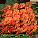 shrimp, shrimp satay, barbecue shrimps, sundanese food, Indonesian local food, food photos, free foto, free photo, stock photos, free images, royalty-free image, stock pictures for free, free stock picture, images free download, stock photography, free stock images