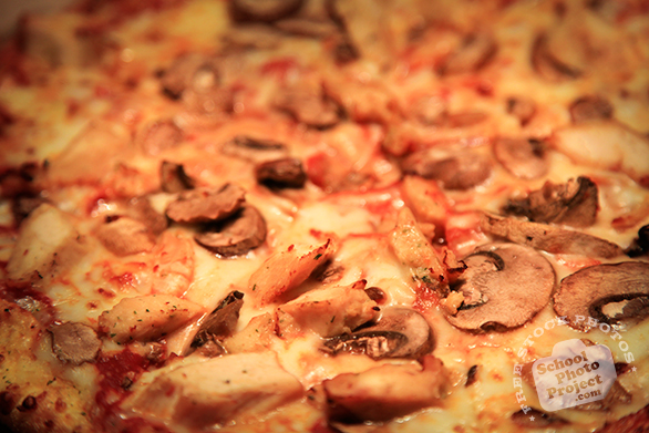 pizza, large pizza, chicken mushroom pizza, pizza texture, bakery photo, free photo, free images, stock photos, stock images, royalty-free image