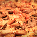 Chicken Mushroom Pizza, bakery photo, free photo, free images, stock photos, stock images, royalty-free image