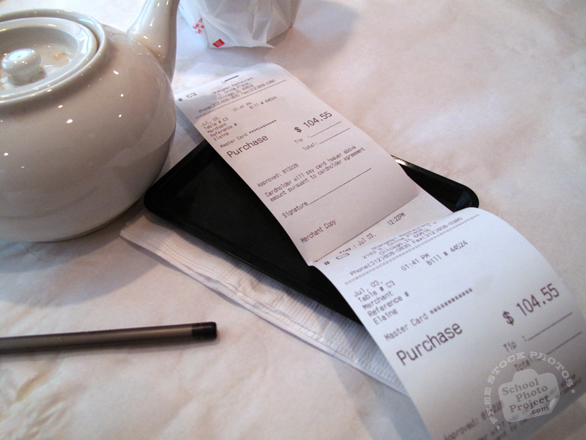 bill, paying bill, restaurant bill, teapot, Chinese restaurant, Chinese cuisine, free photo, free images, stock photos, stock images, royalty-free image