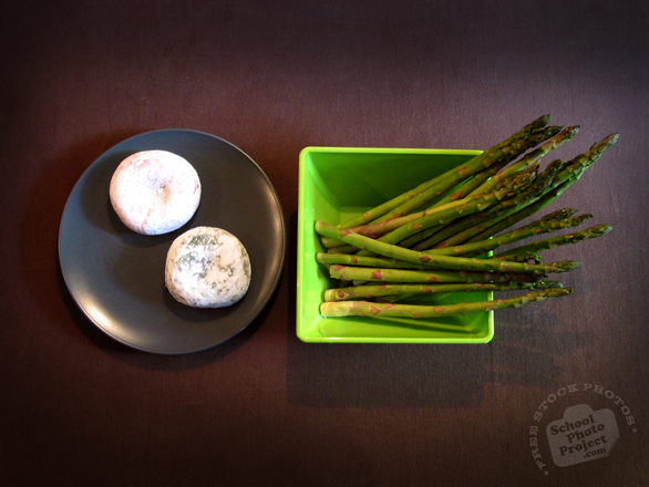 rice cake, asparagus, fresh food, Asian Food, bowl, plate, free photo, free image, stock photo, stock image, royalty-free image