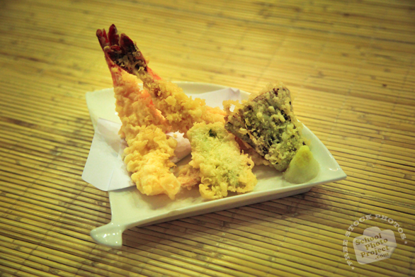 tempura, tempura shrimp, tendon, Japanese food, traditional food, food photos, tatami, free photo, stock photo, free picture, stock images, royalty-free image