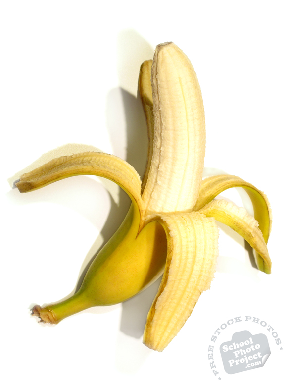 banana, banana photo, picture of peeled banana, fruit photo, free images, stock photos, stock images, royalty-free image