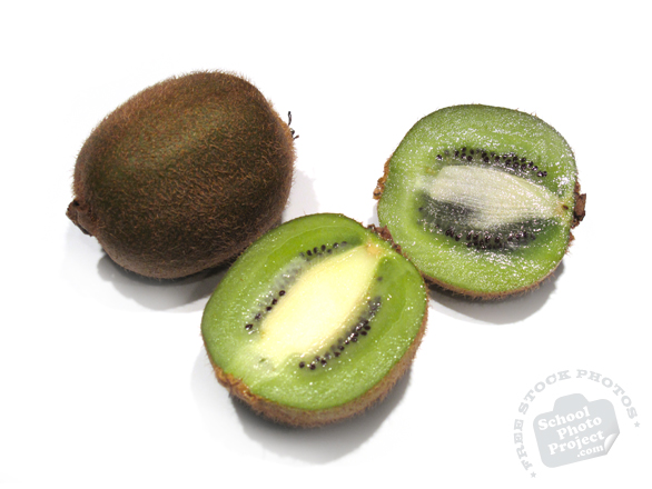 kiwi, kiwifruit, sliced kiwi, kiwi photo, picture of sliced kiwi fruit, fruit photo, free images, stock photos, stock images, royalty-free image