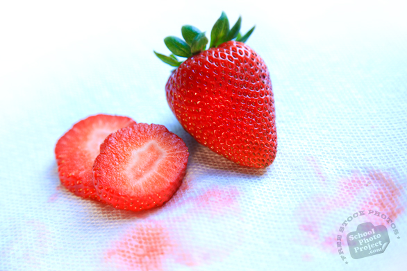 strawberry, strawberry slices, cut strawberry, strawberry photo, picture of cut strawberry, fruit photo, free stock photo, free picture, stock photography, stock images, royalty-free image