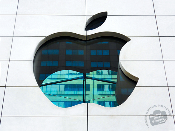 Apple logo, Apple Store, Apple Computer logo, corporate identity image, logo photo, brand picture, free logo mark, free stock photo, free picture, royalty-free image, school photo project use