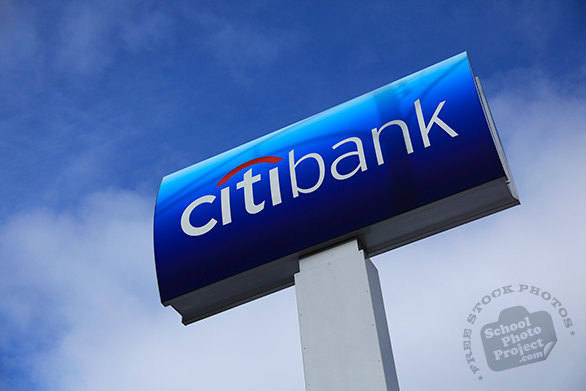 Citibank logo, Citibank sign, Citibank business mark, corporate identity image, logo photo, free logo mark, free stock photo, free picture, royalty-free image
