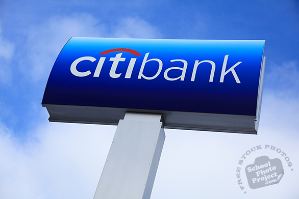 Citibank logo, Citibank sign, Citibank business mark, logotype, corporate identity image, logo photo, free logo mark, free stock photo, free picture, royalty-free image