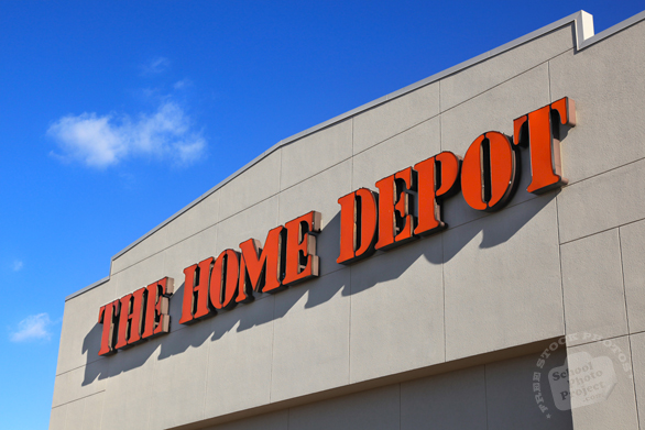 Home Depot, logo, brand, identity, home improvement, free stock photo, free picture, stock photography, royalty-free image