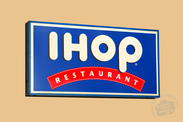 IHOP, fast food, family restaurant, free logo mark, free stock photo, free picture, royalty-free image