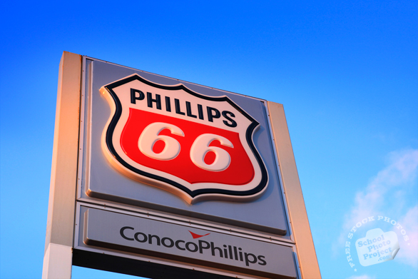Phillips 66, ConocoPhillips, logo, brand, gasoline, gas station, free stock photo, free picture, stock photography, royalty-free image