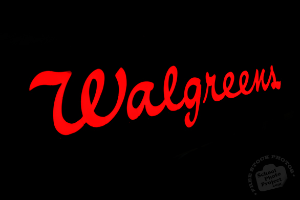 Walgreens, logo, brand, identity, free logo mark, free stock photo, free picture, stock photography, royalty-free image