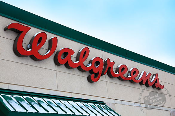 Walgreens logo, Walgreens sign, Walgreens store brand, corporate identity image, logo photo, free logo mark, free stock photo, free picture, royalty-free image