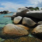 boulders, big rock, stone, water, beach, sea side, nature photo, free stock photo, free picture, stock photography, royalty-free image