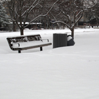 snow, thick snow, park benches, blizzard, snowstorm, winter season, nature photo, free stock photo, free picture, stock photography, royalty-free image
