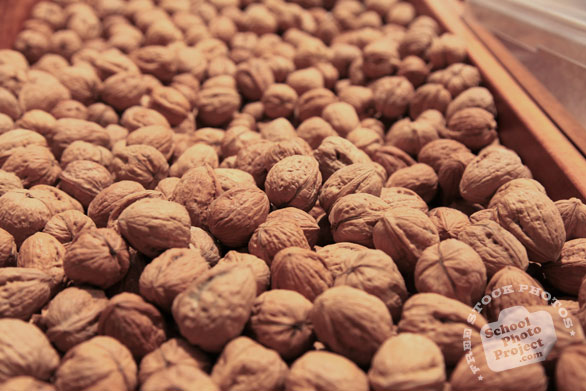 walnut, walnut in shell, walnuts on market stall, nuts, free stock photo, free image, royalty-free image