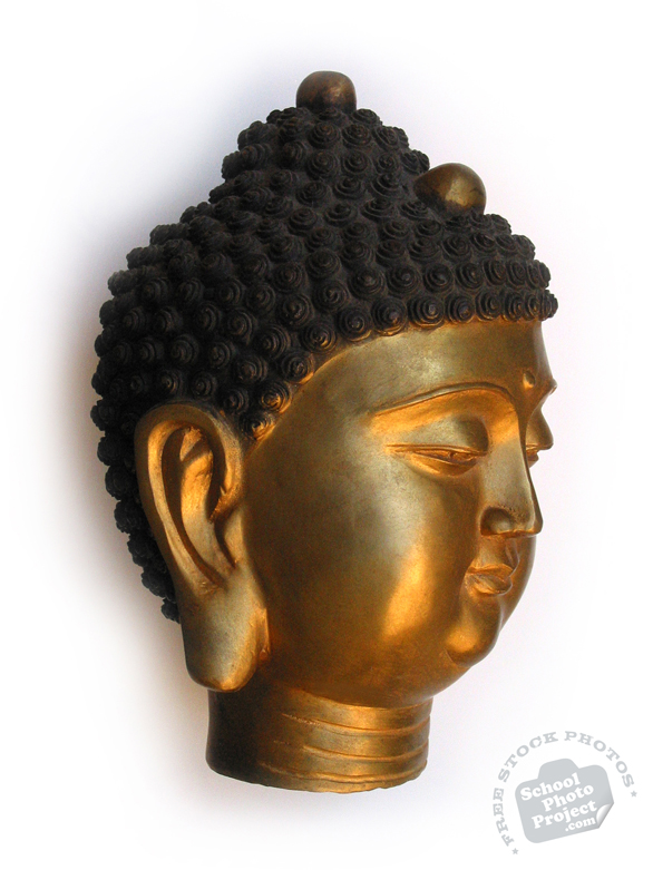 Buddha bust, Buddha head, bronze statue, decor, daily object, free photo, stock photos, royalty-free image
