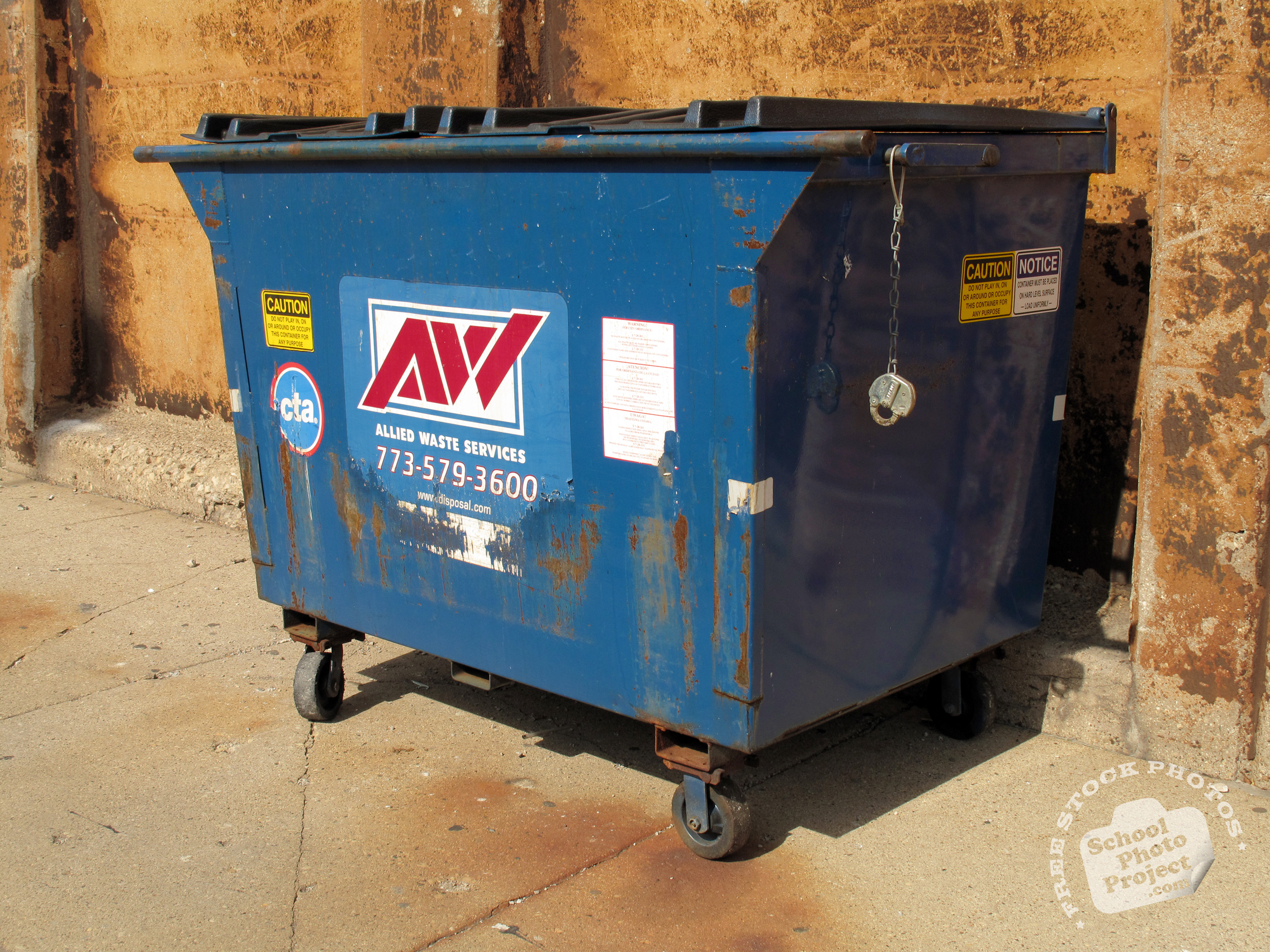 Dumpster, FREE Stock Photo, Image, Picture: Trash Bin, Royalty-Free ...