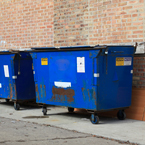 city dumpsters, dumpster cans, trash bin, daily objects, free stock photo, picture, free images download, stock photography, royalty-free image