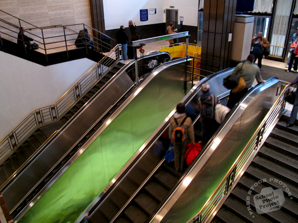escalator, people riding escalator, stairs, lift, building equipment, daily objects, stock photos, free foto, free photos, free images download, stock photography, stock images, royalty-free image